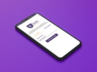 e-Banking concept for iPhone X