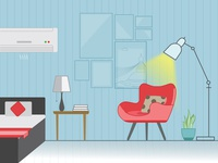 Residence Room Illustration