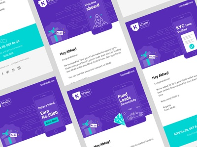 Email Newsletter Concept cool color cool purple shade marketing template edm concept email newsletter design