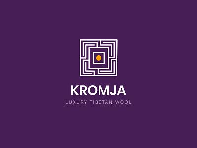 Kromja Logo Concept dark background white lines stupa idea kromja logo