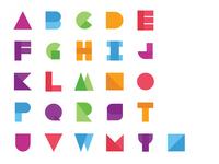 Material Alphabets Concept