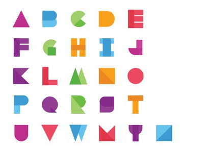 Material Alphabets Concept android application rainbow color concept alphabets material design