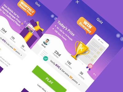 Rebound Quiz Game Concept current scores landing page quiz game better ui user experience rebound user interface