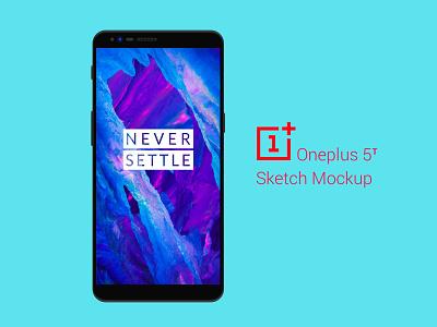 Oneplus 5t Phone dark black color mockup phone oneplus 5t