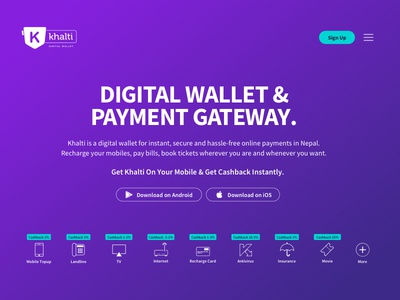 Landing Page Concept payment gateway of nepal concept design landing page