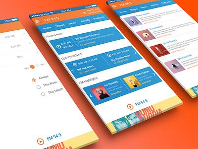 FM Radio UI Design sketch design illustration ui conceptual design mobile application ui design