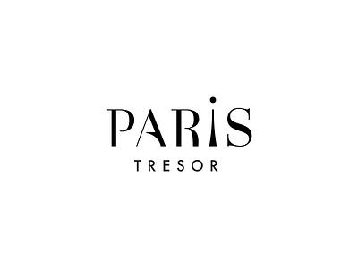 Logo - Paris Tresor fashion typography minimal vector illustrator logo design branding