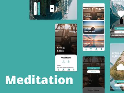 Meditation App Design 2020 design 2020 ui ux logo design branding app design app