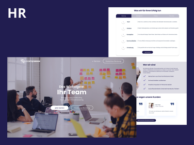 HR Management Website webflow webdevelopment webdesign 2020 design ui ux design