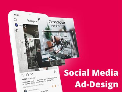 Social-Media ad for creative web-agencies web vector illustration webflow webdesign branding 2020 design design