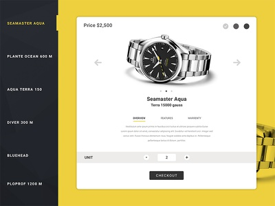 Product details store watch checkout design flat 02 dailyui