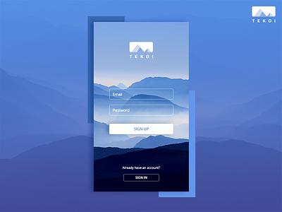 Daily UI #1 Sign Up ui minimal logo design clean branding app interface flat dailyui