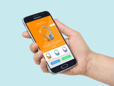 Beats Studio - E-commerce app beats android ui clean headphone music interface flat design app e-commerce