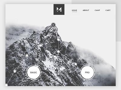 Daily UI #3 Landing Page no -2 website webdesign web ui page minimal landing dailyui mountain trekking