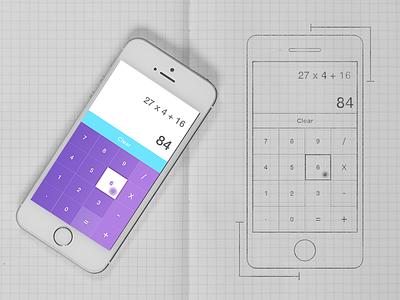 Daily UI #4 Calculator ux ui interface minimal gradient design dailyui concept calculator app ios