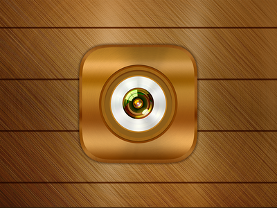 Daily UI #5 App Icon android ios illustration camera metal wooden vintage dailyui icon app