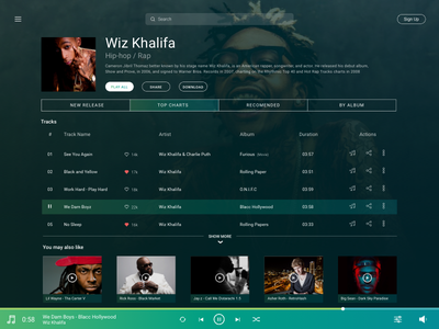 Daily UI #9 Music Player website web app ux service streaming online player music 9 ui daily