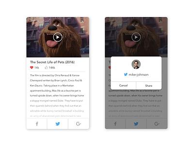 Daily UI #10 Social Share ux ui design minimal app share networks social