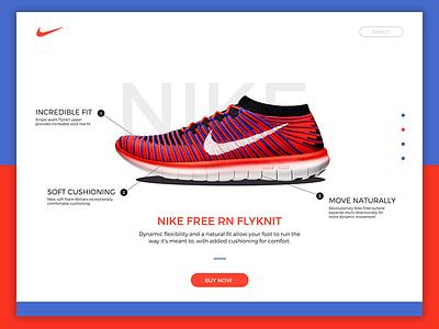 Daily UI #12 Single Product flynkit shoe nike website web e-commerce product single 12 dailyui