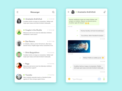 Daily UI #13 Direct Messaging ui minimal ios direct-messaging dailyui daily chatting app 13
