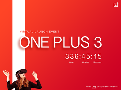 Daily UI #14 Countdown Timer event launch time one-plus-3 website web timer countdown 14 ui daily