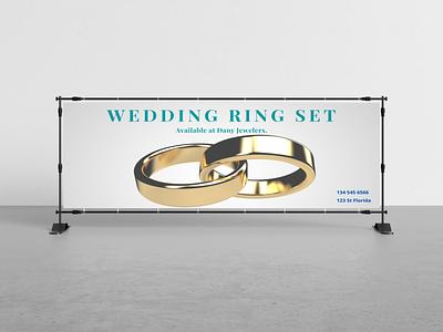 Banner Ring Advertisment branding illustration banner design design