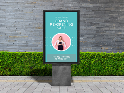 Outdoor Advertisement Banner banner design ui illustration design