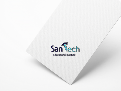 San Tech illustration design logo
