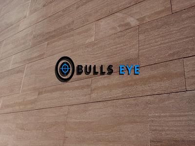 Bulls Eye illustration logo design