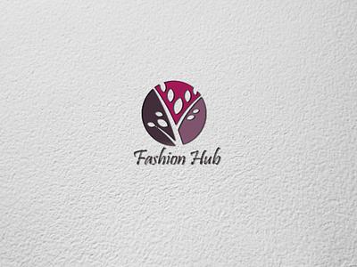 Fashion Hub illustration logo design