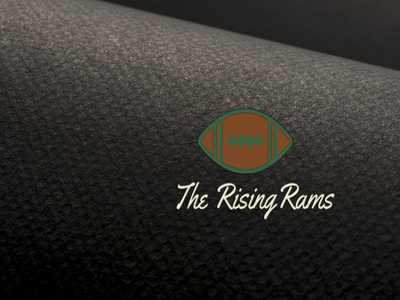 Rising Rams illustration logo design