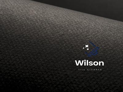 Wilson Cleaner logo illustration design