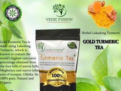 Herbal Turmeric Tea - Vedic Fusion immunity booster drink immune system booster drink anti ageing supplement curcumin supplement herbal supplement turmeric tea best immunity booster branding