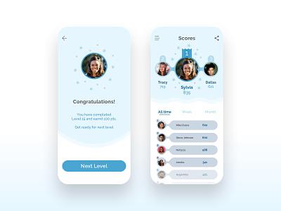 Leaderboard blue game design game leaderboards leaderboard colors ui app ui design design dailyui