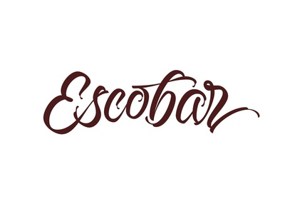 Escobar typography typeface type pen parallel logotype logo lettering curves calligraphy