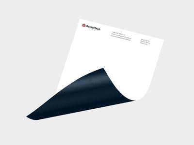 SocialTech A4 Corporate Letterhead corporate design a4 grid loading identity letterhead branding animation gif pattern