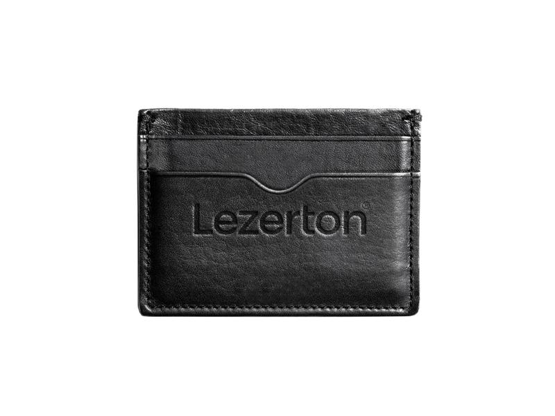 Lezerton® Wallet logotype logo card pocket accessories leather identity branding wallet