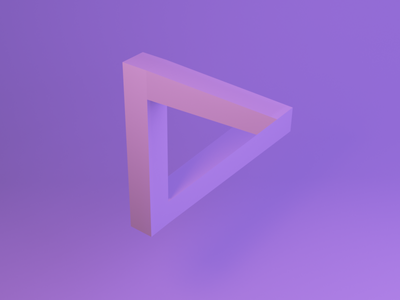 Optcal illusion pink violet neon gradient optical illusion triangle logo abstract illustration blender3d blender 3d art 3d