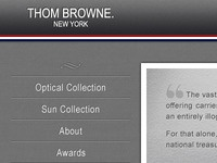 Thom Browne Eyewear - Home Page/Main Menu