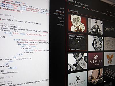 Portfolio Section Coded! website portfolio code