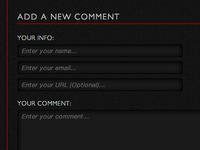 Add a New Comment Form