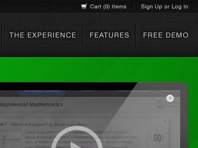 New Educational Project Header home page header main menu