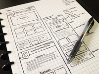 New Project - Initial Wireframe Sketches