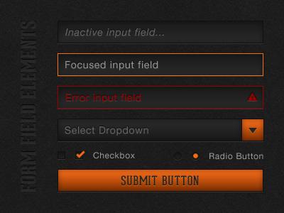 Form Field Elements form input dropdown checkbox radio submit