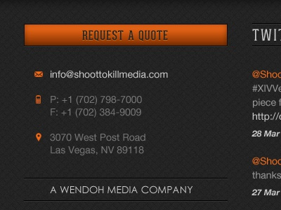 STK - Footer Contact Details button contact footer