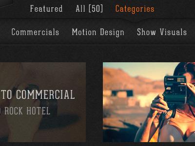 STK - Category Slidedown Menu & Thumb Rollovers links thumbnails menu categories