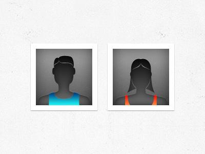 Male & Female Default Avatars - Updated avatar sports male female app
