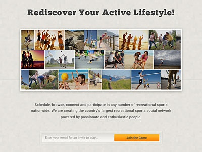 Splash/Coming Soon Page WIP splash home sports active landing page coming soon sign up