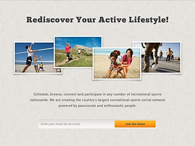 Splash/Coming Soon Page WIP - 2! splash home sports active landing page coming soon sign up