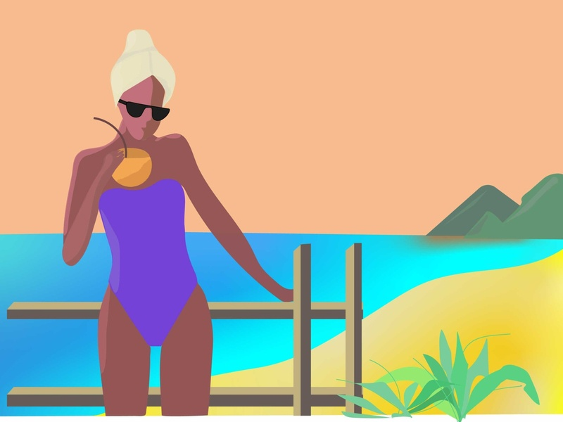 summertime vector illustration design